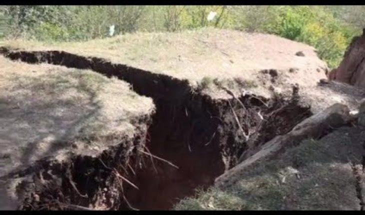 Entre Ríos: Se abrió la tierra y podría desaparecer un barrio