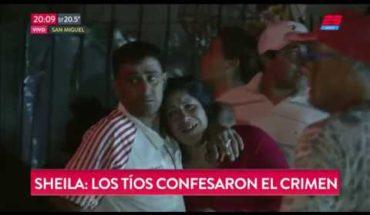 """Los tíos de Sheila confesaron el crimen: """"Tomamos droga y alcohol"""""""