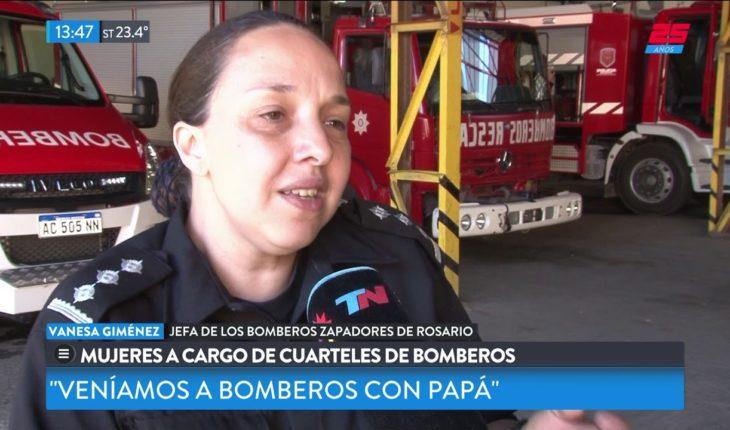 Mujeres a cargo de cuarteles de bomberos en Rosario y Santa Fe