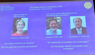 Awarded the Nobel Prize in chemistry to three scientists for advances in the development of proteins