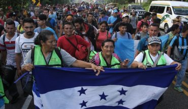 Caravana avanza hacia Tapachula