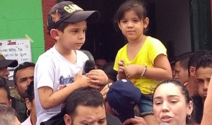 Christ José Contreras: free 5 year-old boy whose abduction had shocked Colombia