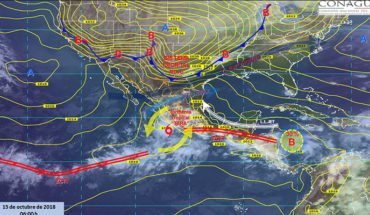 Decrease in temperature and strong winds in the North of Mexico