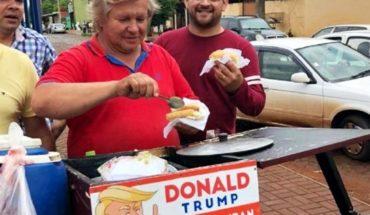 Donald Trump tiene un doble y vende choripán en Paraguay