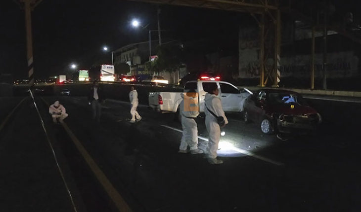 Driver died on impact your unit against a vehicle of the PGJ in Morelia, Michoacán