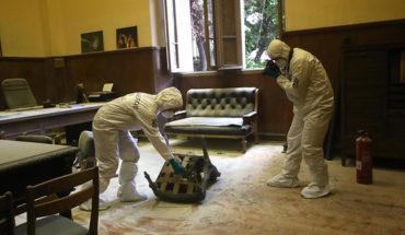 Encapuchados lanzaron bombas molotov a la oficina del rector del INBA