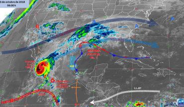 """Huracán """"Willa"""" genera fuerte temporal de lluvias en el occidente, sur y oriente del país"""