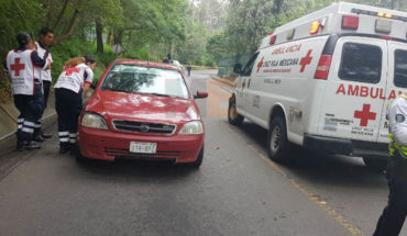 In broad daylight the day, final shot to a motorist on the rise to Santa Maria in Morelia, Michoacán