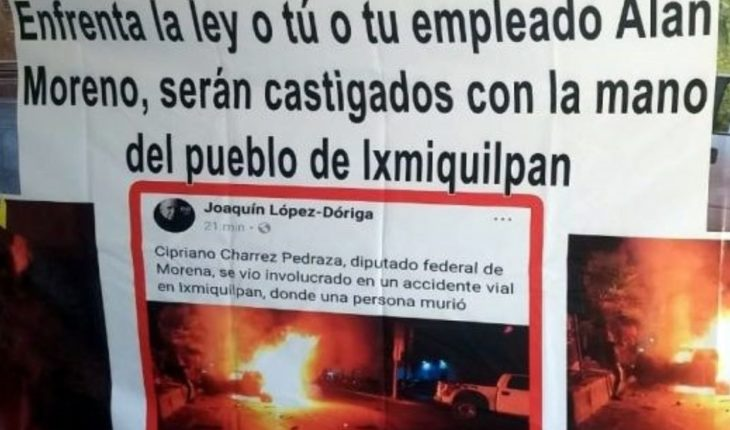 Ixmiquilpan settlers threaten to blanket Deputy Charrez