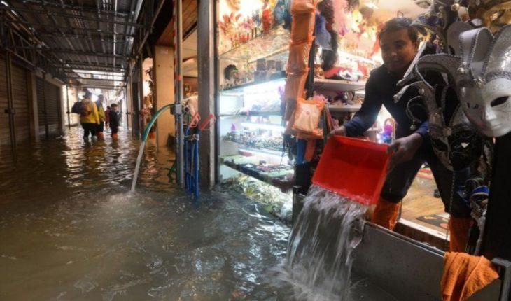 Las impresionantes imágenes de Venecia bajo el agua