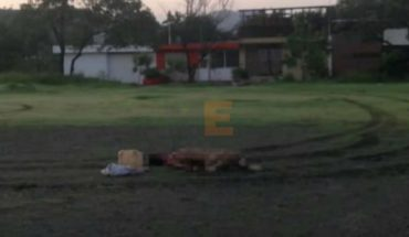Leave naked corpse in a field of soccer in Apatzingan, Michoacán