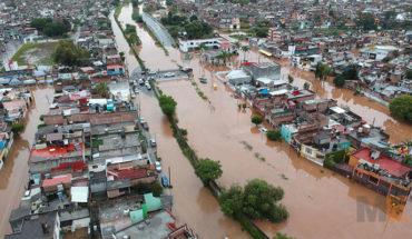 """Lluvias provocadas por el huracán """"Willa"""", dejan severas inundaciones en Morelia, Michoacán"""