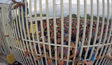 Nueve lesionados en pelea entre migrantes y policías hondureños en frontera