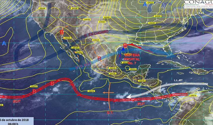 Pronostican tormentas puntuales fuertes en estados del norte, noreste y oriente de México