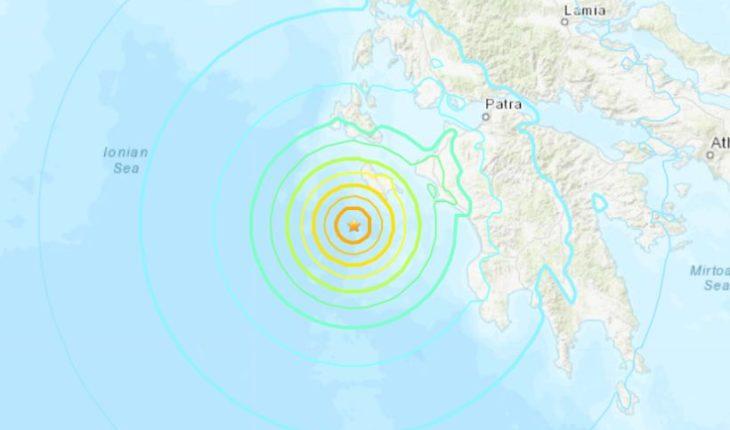 Sismo de 6.8 Richter remeció la isla griega de Zante en el mar Jónico