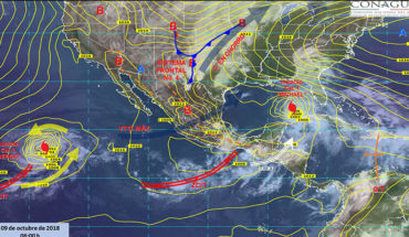 Temporary forecast heavy rains to rains in the southeast of the country