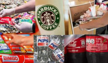 The companies that produce more waste in Mexico are Coca Cola, Pepsi, Nestle, Danone, Starbucks, McDonalds...  home
