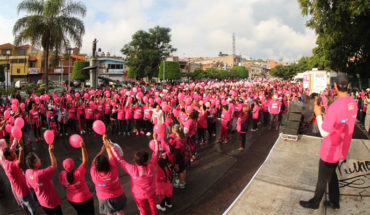 They do race against breast cancer in La Piedad, Michoacán