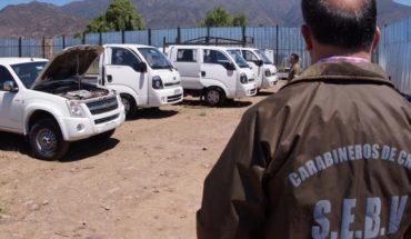 Carabineros detiene a banda especializada en robo de vehículos