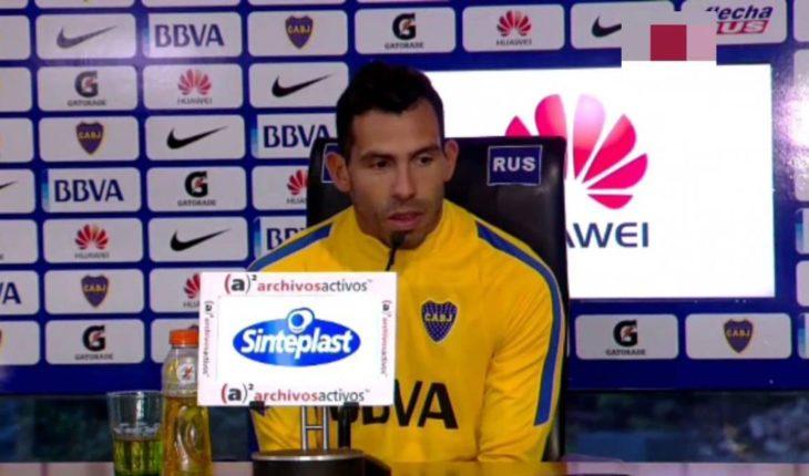 Carlos Tévez declara que Conmebol los está obligando a jugar