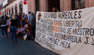 Comuneros de Nahuatzen bloquean Av. Madero, exigen liberación de tres compañeros