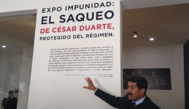Corral presenta exposición sobre presunto saqueo de César Duarte