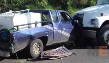 Cuatro lesionados en carambola vehicular en la Zitácuaro-Morelia