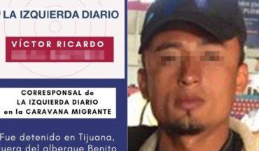 Detienen por disturbios a reportero hondureño que cubría Caravana