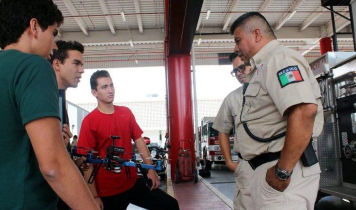 Estudiantes buscan combatir incendios con drones