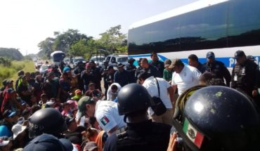 Frenan a cuarta caravana de migrantes en Chiapas