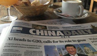 """G20: Buenos Aires amaneció con el """"China Daily"""", diario de China"""
