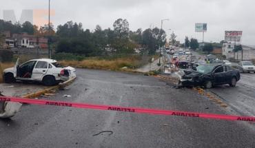 Hombre muere tras choque de autos sobre la Avenida Morelos Norte de Morelia