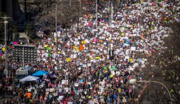 Los jóvenes pesan más en EEUU que en Europa. March for Our Lives en Washington D.C (24/3/2018). Foto: Phil Roeder from Des Moines, IA, USA (Wikimedia Commons / CC BY 2.0). Blog Elcano