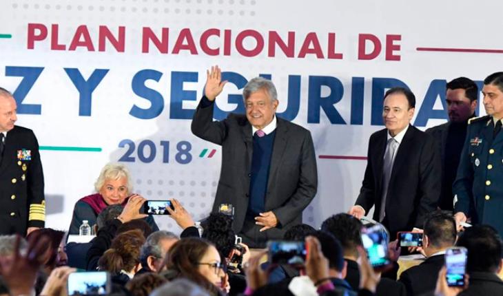Los ocho puntos del Plan Nacional de Paz y Seguridad de AMLO