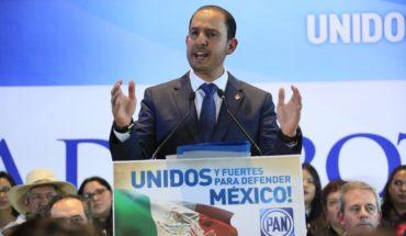 Marko Cortés rinde protesta como dirigente del PAN