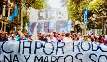 Masiva marcha en repudio al asesinato de dos militantes sociales