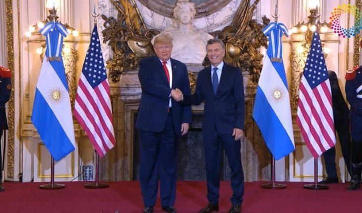 Mauricio Macri recibió al presidente de los Estados Unidos Donald Trump