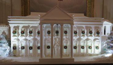 Melania Trump devela el decorado navideño en la Casa Blanca