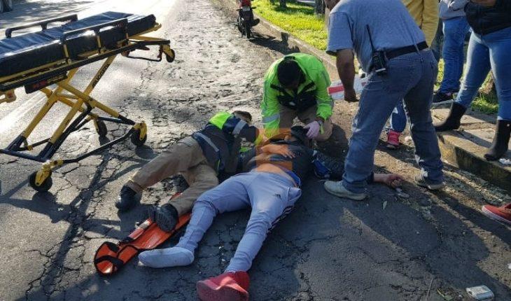 Motociclista queda herido en choque contra una camioneta en Zamora, Michoacán