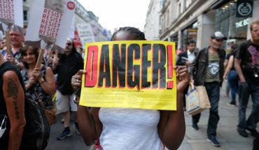 No hay una Internacional de la derecha radical (Manifestación contra la visita de Donald Trump en Londres, 2018. Foto: Alisdare Hickson - CC BY-SA 2.0). Blog Elcano