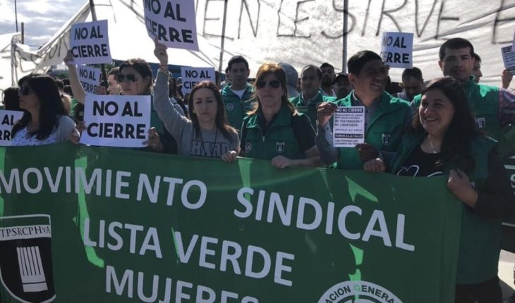 Protesta y corte de trabajadores del shopping Buenos Aires Desing