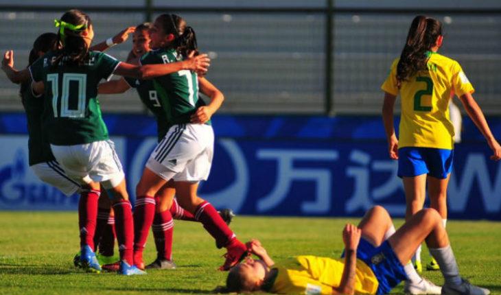 Selección femenil sub 17 mexicana, vence a Brasil