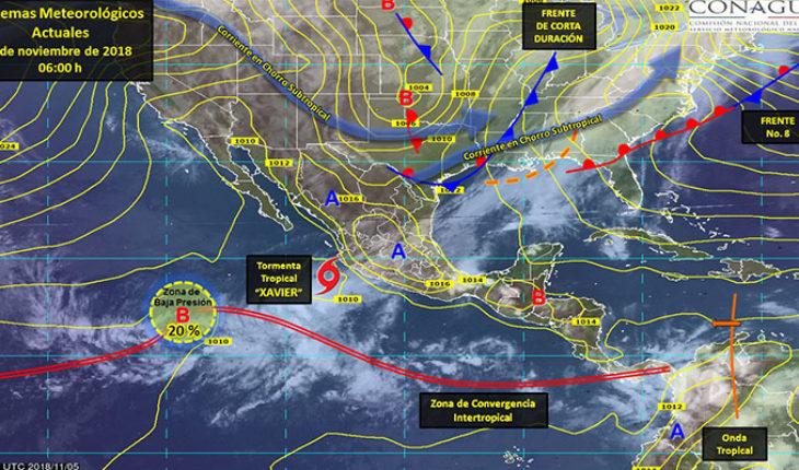 """Tormenta tropical """"Xavier"""" generará vientos fuertes y oleaje elevado en costas de Nayarit, Jalisco y Colima"""