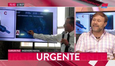"""Carlos Paz: """"Quedó comprobado que el subamarino tuvo un accidente, una falla propia"""""""