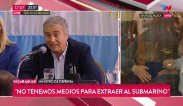 """Oscar Aguad: """"Todos los barcos pasaron por esa zona y no lo pudieron detectar"""""""