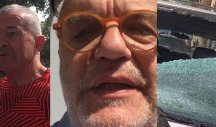 Violenta discusión de tránsito de Juan Leyrado con un ex boxeador francés