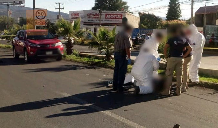 Adult over run by a vehicle in Morelia, Michoacan peripheral dies
