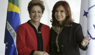 "Cristina Kirchner and Dilma Rousseff today speak in the ""counter-Summit"" to the G20"