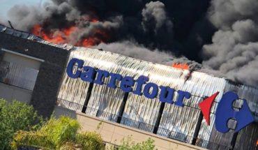 Fierce Fire sweeps a supermarket of Tiger