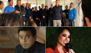 Macri in homage to the ARA San Juan, concern for the son of Menem, spoke Gallardo, Becky G empowered, and more...